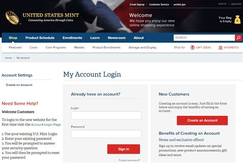 Us Mint Shopping Site