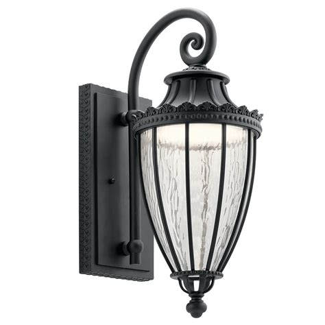 kichler led wall light kichler lighting wakefield textured black led outdoor wall light 49752bktled destination