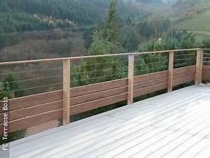 Garde Corps Terrasse Inox : garde corps bois inox fc terrasse bois terrasse en 2019 patio railing deck railings et ~ Melissatoandfro.com Idées de Décoration