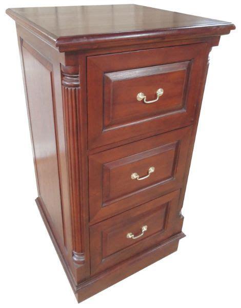Deep 3 Drawer Mahogany Filing Cabinet