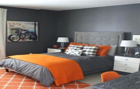 brown  orange bedroom ideas gray burnt atmosphere walls