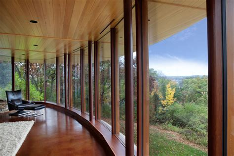 amazing natural curved house architecture  wisconsin