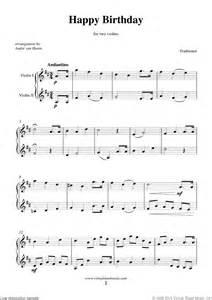 Happy Birthday Violin Sheet Music