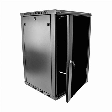 glass door server cabinet 18u wall mount network server data cabinet 24 inch depth