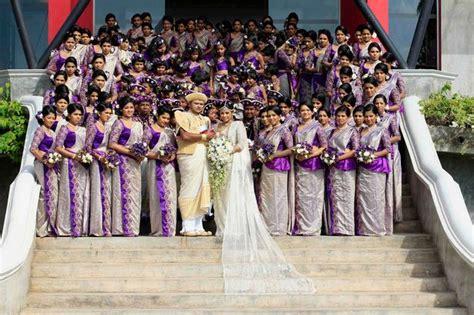 worlds biggest wedding  sri lanka   bridesmaids