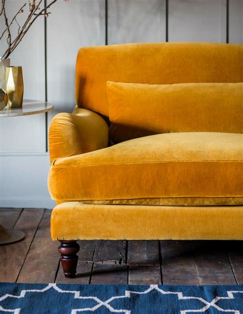 yellow settee mabel sofa available in 17 colours and 2 sizes three