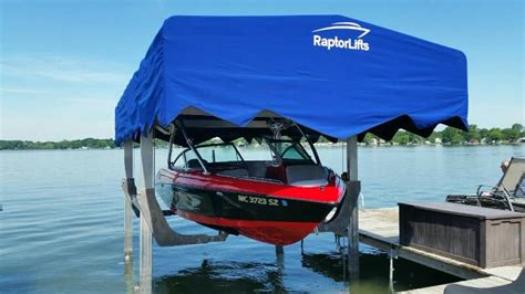 In Water Boat Lift by The Ultimate Low Water Boat Lift Raptor Lifts