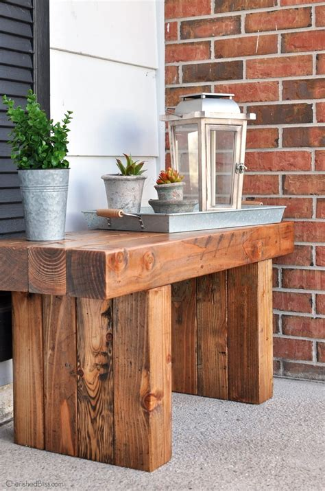 Diy Patio Bench Plans by White Diy Outdoor Bench Featuring Cherished Bliss