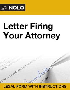 letter firing  attorney legal form nolo