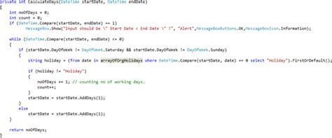 java program calculate number days