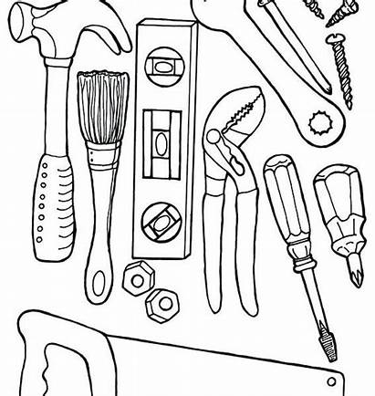 Coloring Tools Pages Construction Doctor Worker Equipment