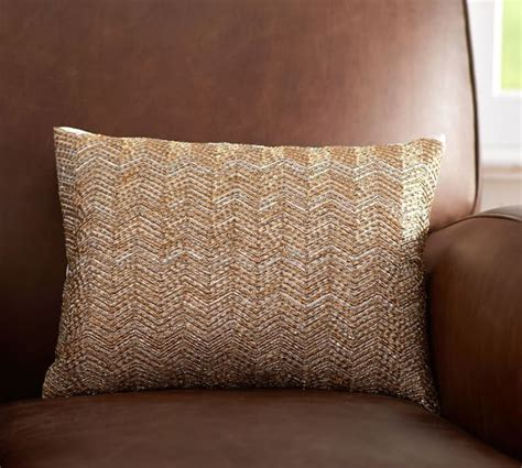 Nell Beaded Pillow Cover Pottery Barn by Beaded Glitter Boudoir Pillow Cover Pottery Barn