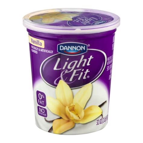dannon yogurt light and fit dannon light and fit yogurt nonfat vanilla 32 oz