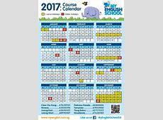 2017 Calendar now available My English School