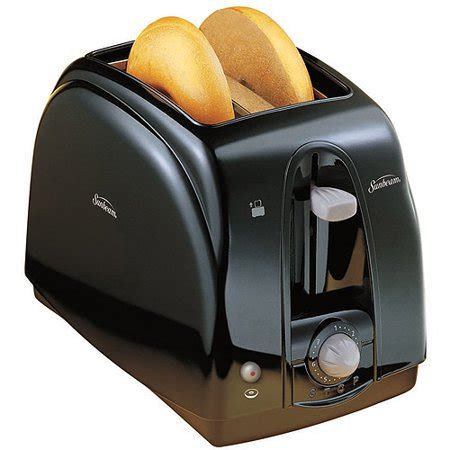 Coolest Toaster - sunbeam 2 slice cool touch toaster black walmart