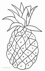 Coloring Pineapple Printable Cool2bkids Fruit Drawings Tractor sketch template