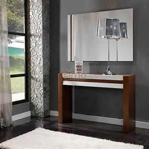 Console Entrée Design : console entr e moderne bois et laque brillante ~ Premium-room.com Idées de Décoration