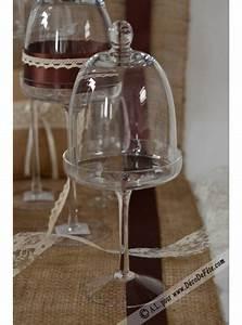 Cloche De Verre : 1 choche en verre sur pied 30cm ~ Teatrodelosmanantiales.com Idées de Décoration