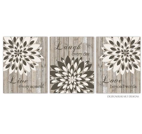 Discover the best of shopping and entertainment with amazon prime. Amazon.com: Live Laugh Love Dahlia Mum Brown Beige Tan Flower Burst Wall Decor Prints Bedroom ...