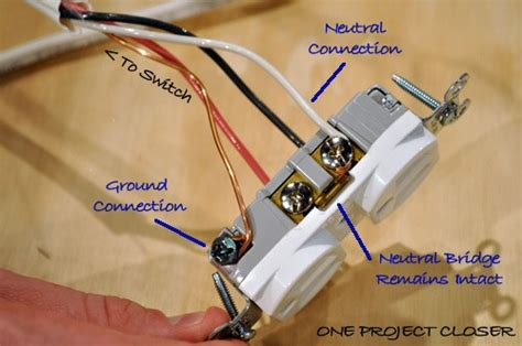 video how to wire a half switched outlet one project closer
