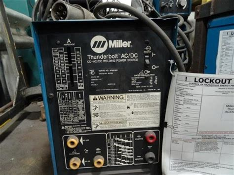Miller Thunderbolt Welder Wiring Diagram by Used Miller Thunderbolt Cc Ac Dc Perfection Machinery Sales