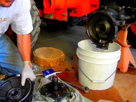 wheel bearing removal kubota tractor front axle bearing repair part 5