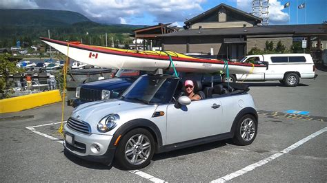 Mini Cooper With Kayak