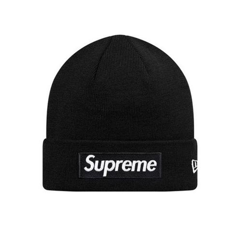 supreme new era supreme new era box logo beanie hat black