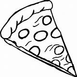 Pizza Coloring Pepperoni Wecoloringpage Printable Colouring Cheese Round Sauce Bread Easter Ingredients sketch template