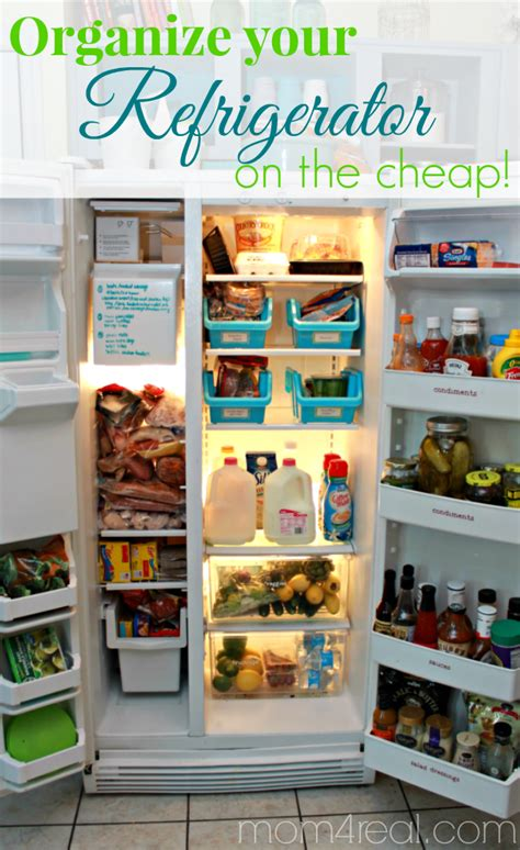 Small Kitchen Pantry Organization Ideas - organize your refrigerator on the cheap mom 4 real