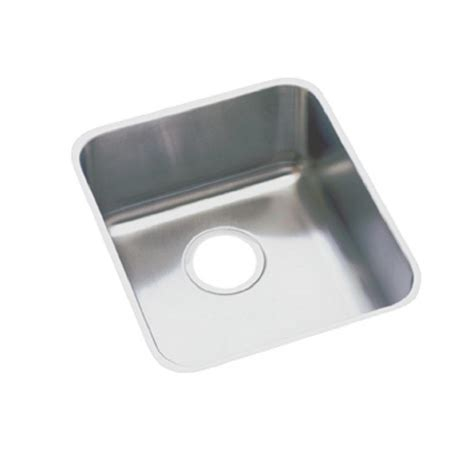stainless steel undermount kitchen sinks single bowl elkay lustertone undermount stainless steel 16 in single 9787