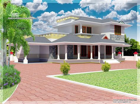 2100 Sqfeet Double Floor House Elevation  Kerala Home