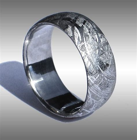 meteorite wedding ring meteorite rings