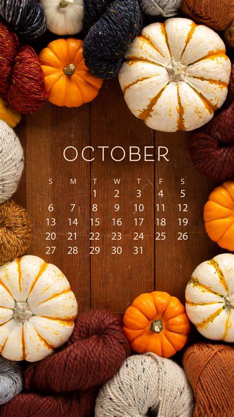 Free Downloadable October Calendar - KnitPicks Staff ...