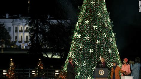 obama lights national christmas tree cnn political