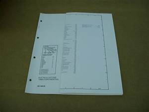 1985 Lincoln Continental Wiring Diagram Schematic Sheet