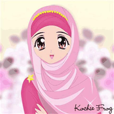 Gambar DP WA Animasi Muslimah Bergerak Terbaru Kochie Frog