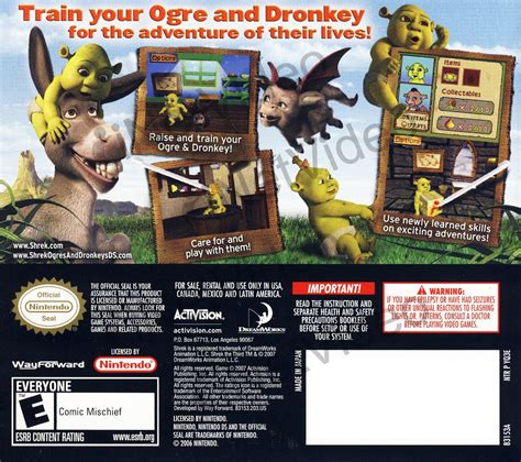 Shrek The Third Ogres And Dronkeys Ds On Ds Game