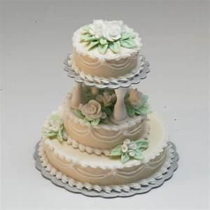 3 Tier Ecru Wedding Cake Stewart Dollhouse Creations
