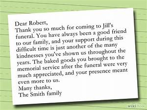 How to write a thank you note after a funeral with sample for Thank you letter for funeral