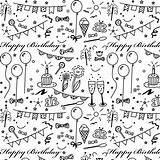Paper Printable Birthday Coloring Wrapping Happy Geschenkpapier Stickers Pattern Printables Planner Doodle Drawing Ausdruckbares Freebie Scrapbook Gift Scrapbooking Papers A4 sketch template