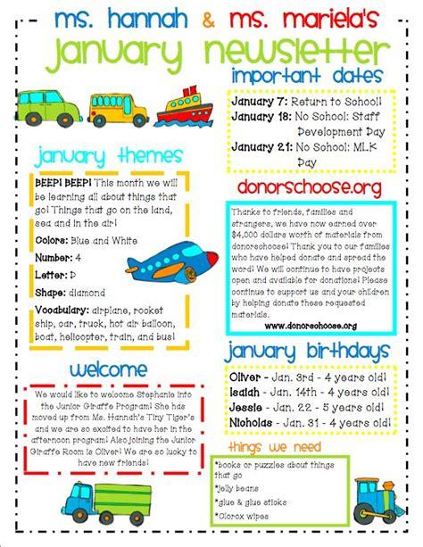 ideas for communicating with parents corner 780 | 1eb28c637ce8bce6d709ec865b7388bb preschool newsletter parent newsletter template