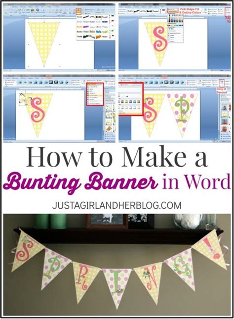 bunting banner  word  clip art tips
