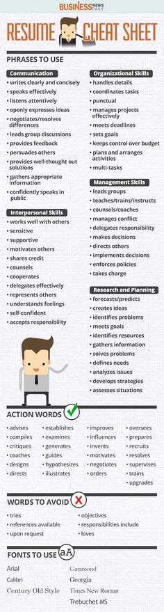 Words You Should Put On Your Resume by 1000 Ideas About Resume Words On Cover