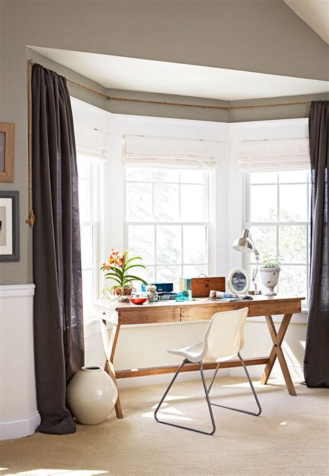 Bow Window Treatments by Bay And Bow Window Treatment Ideas Better Homes Gardens