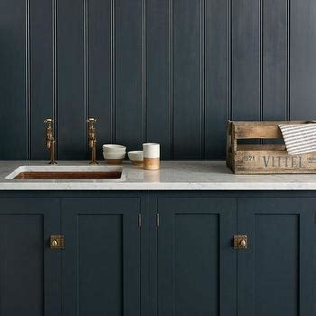 Navy Blue Kitchen Cabinets Brass Hardware Design Ideas
