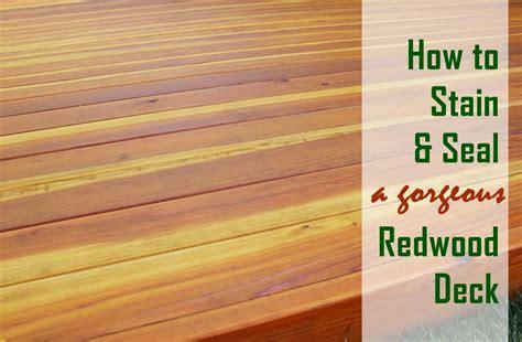 stain  seal  redwood deck bartendinfo