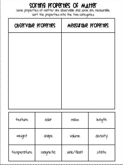 physical properties of matter worksheet 2nd grade