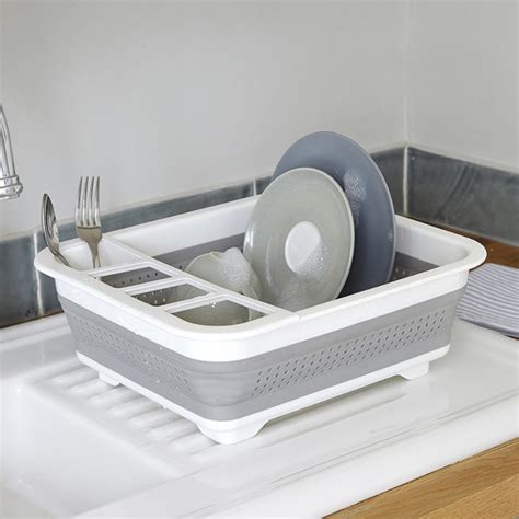 collapsible dish rack collapsible dishrack contemporary dish racks by lakeland