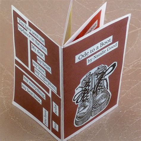 ode   boot  poetry  collage zine etsy
